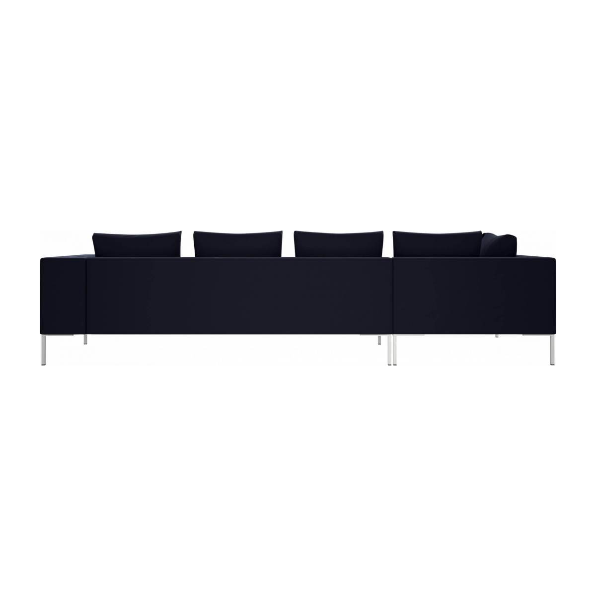 3 seater sofa with chaise longue on the left in Super Velvet fabric, dark blue  n°3
