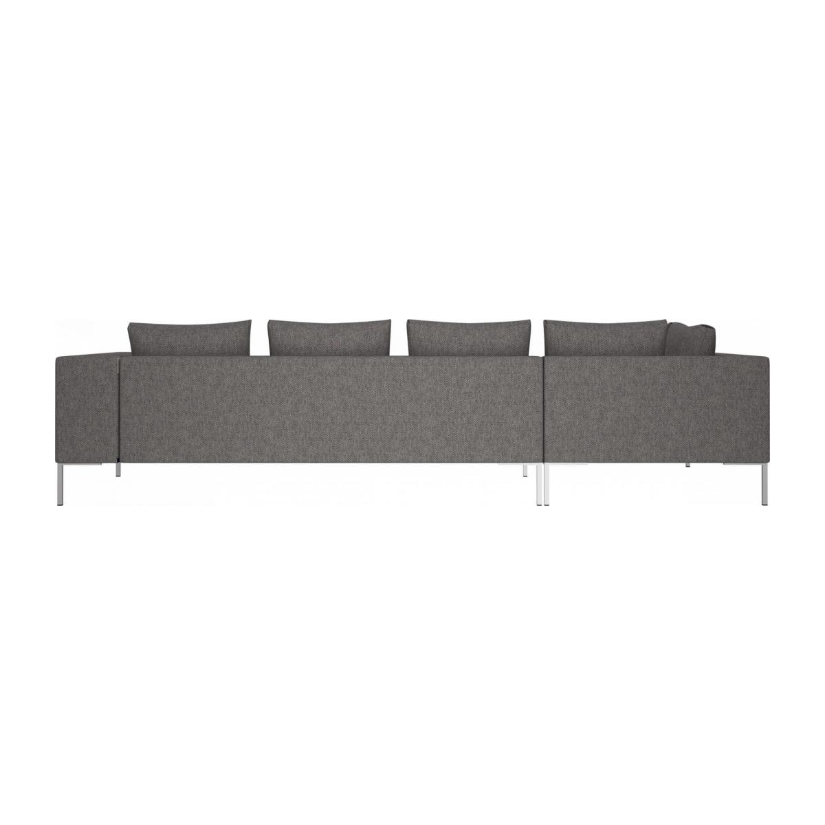 3 seater sofa with chaise longue on the left in Bellagio fabric, night black  n°3