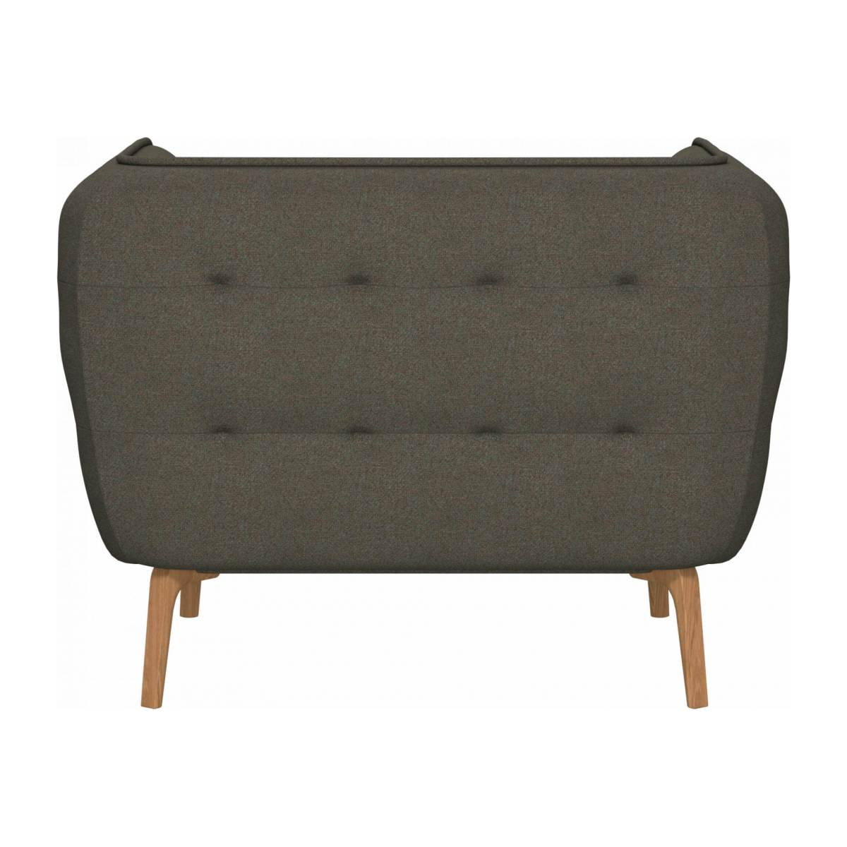 Armchair in Lecce fabric, slade grey and natural oak feet n°3