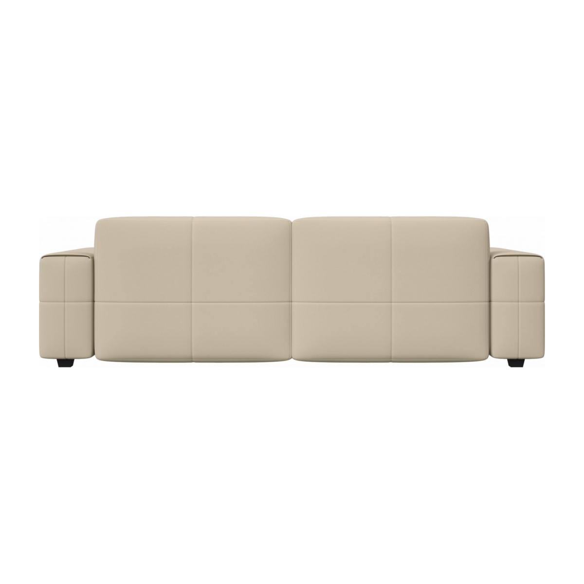 4 seater sofa in Savoy semi-aniline leather, off white n°4