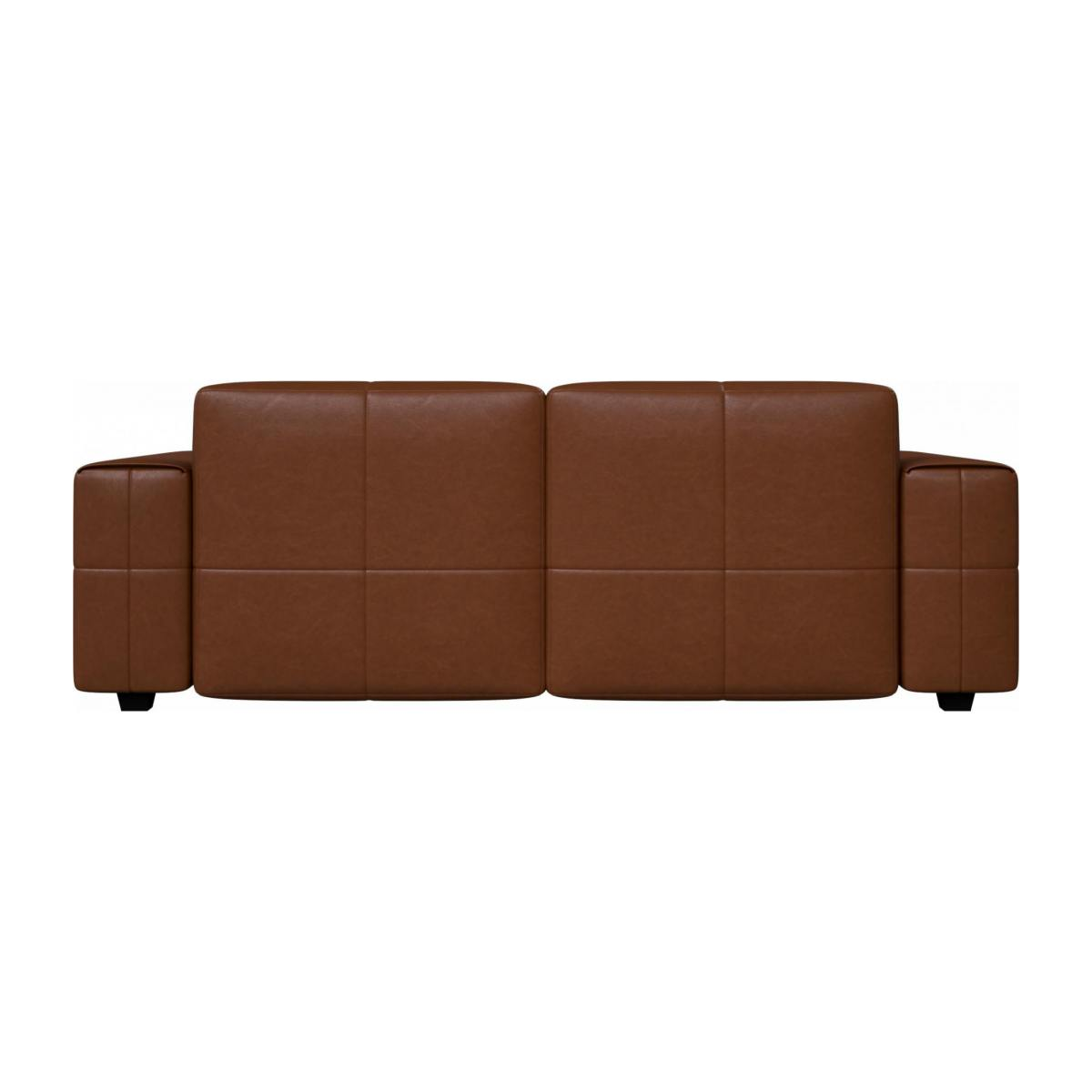 3 seater sofa in Vintage aniline leather, old chestnut n°4