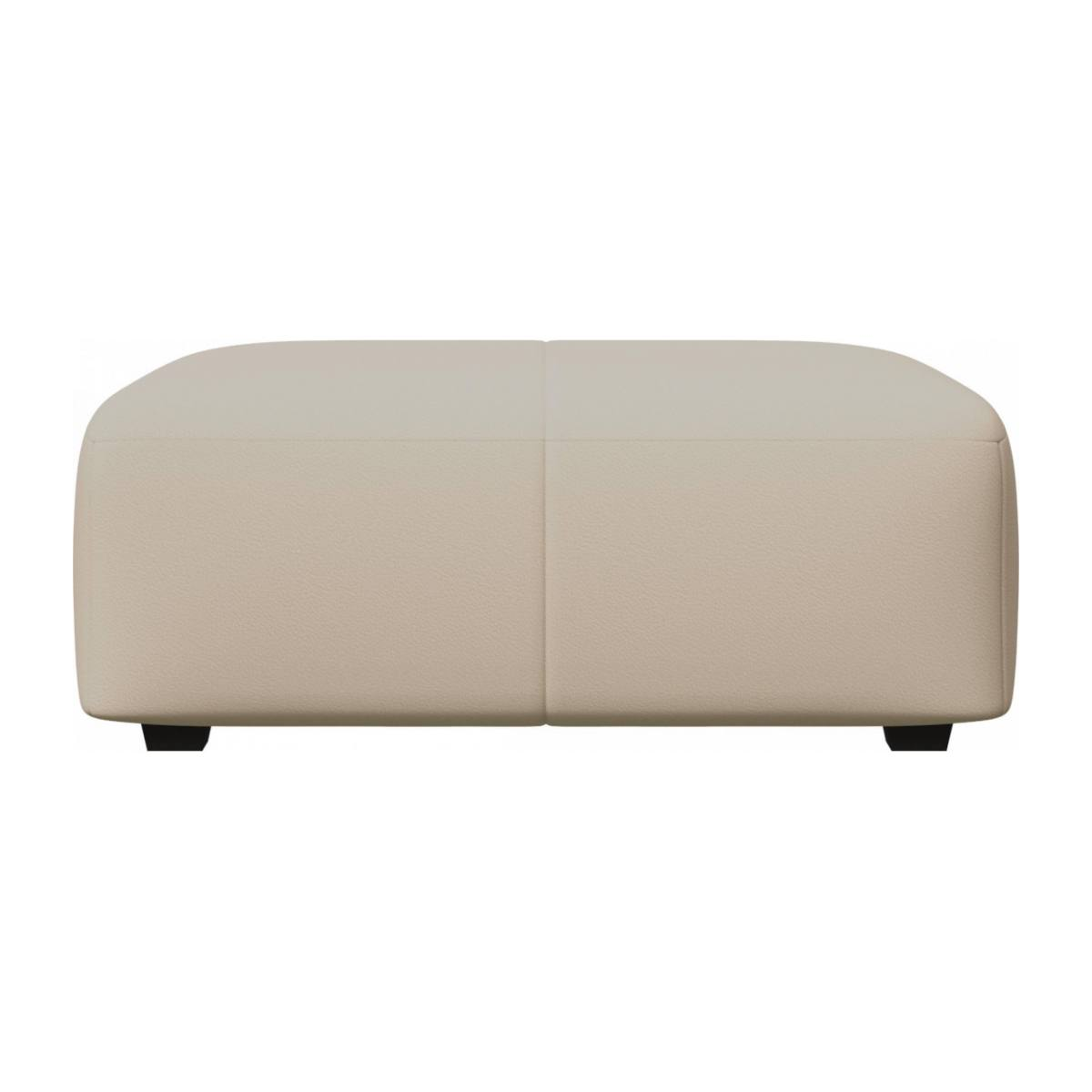 Footstool in Savoy semi-aniline leather, off white n°4
