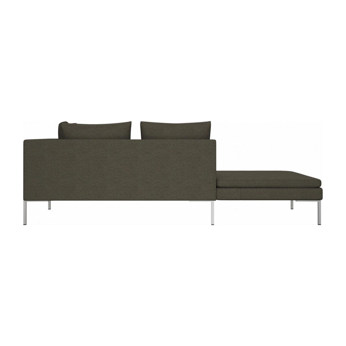 Left chaise longue in Lecce fabric, slade grey n°3