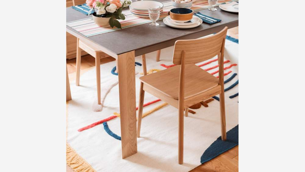 White ceramic dining table 150 cm