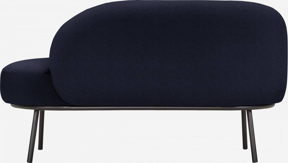 Chaiselongue aus Stoff - Blau