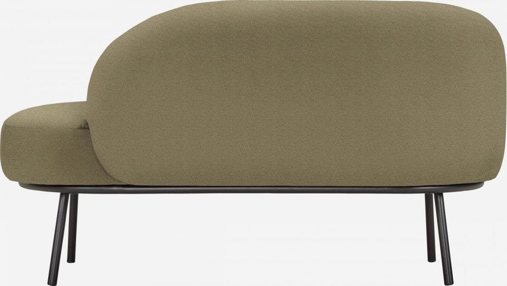 Chaiselongue aus Stoff - Khaki