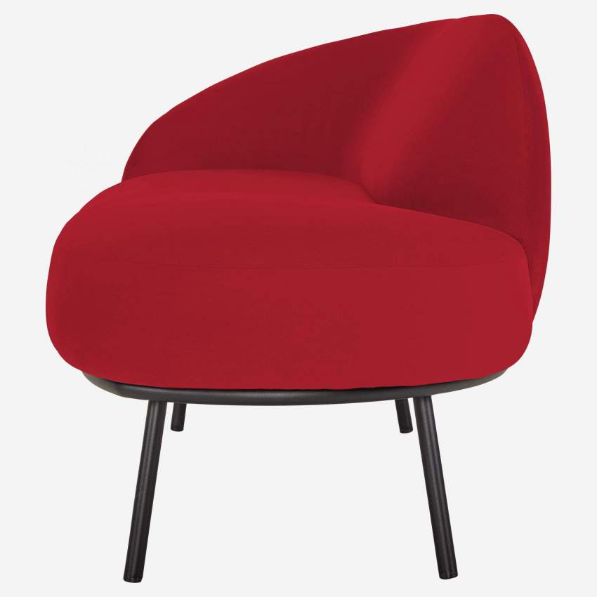 Chaiselongue aus Samt - Rot
