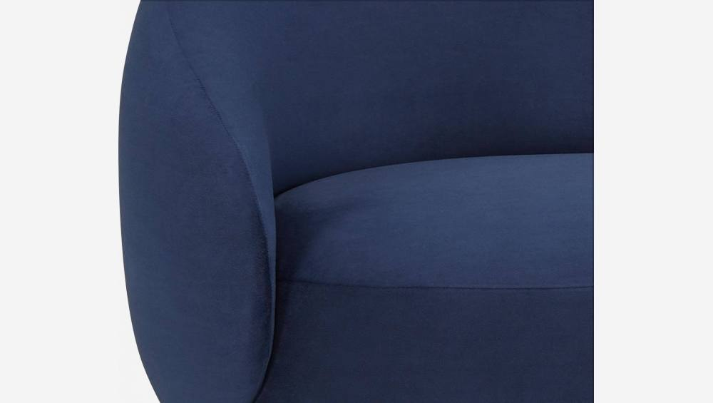 Chaiselongue aus Samt - Blau