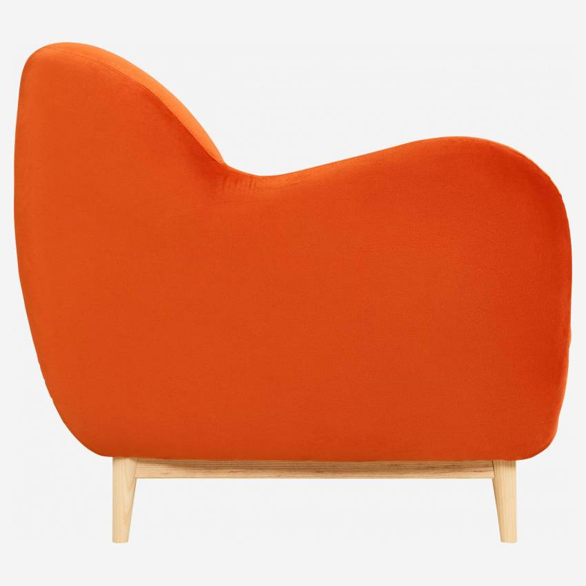 3-Sitzer-Sofa aus Samt - Orange - Design by Adrien Carvès