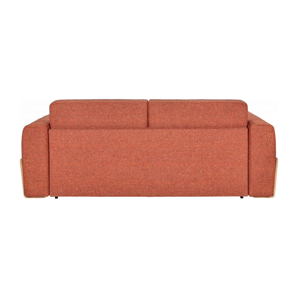 Canapé convertible 3 places en tissu - Orange  n°5