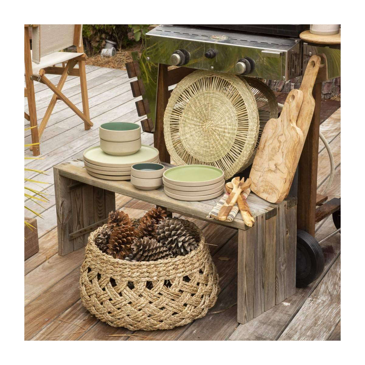 Set de table rond en jonc de mer - Naturel - 40 cm n°5