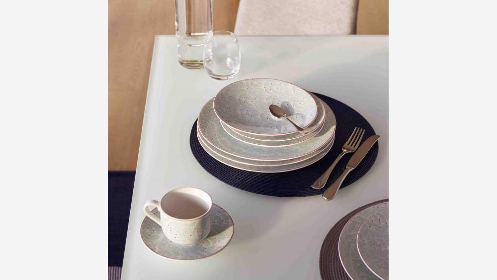 Set de table rond 38cm gris