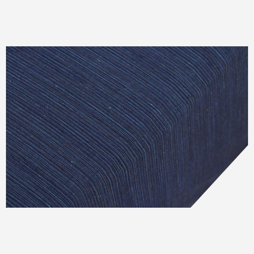 Cotton fitted sheet - 160 x 200 cm - Midnight blue