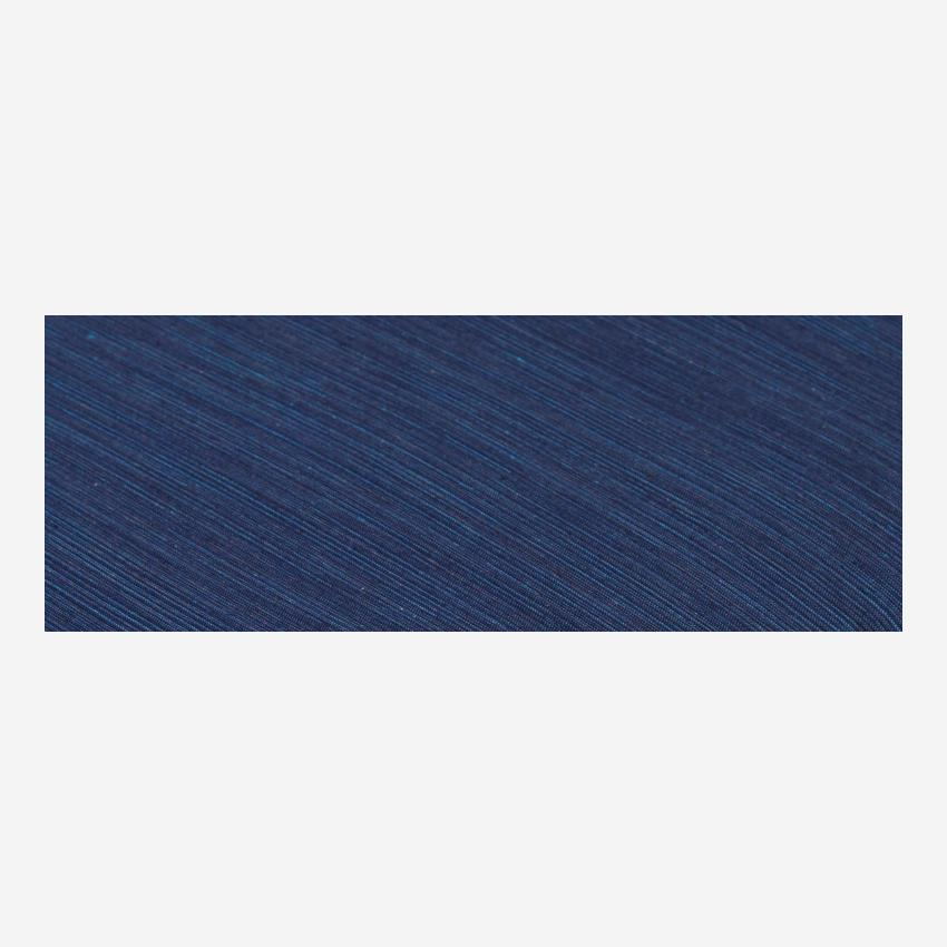 Cotton fitted sheet - 140 x 200 cm - Midnight blue
