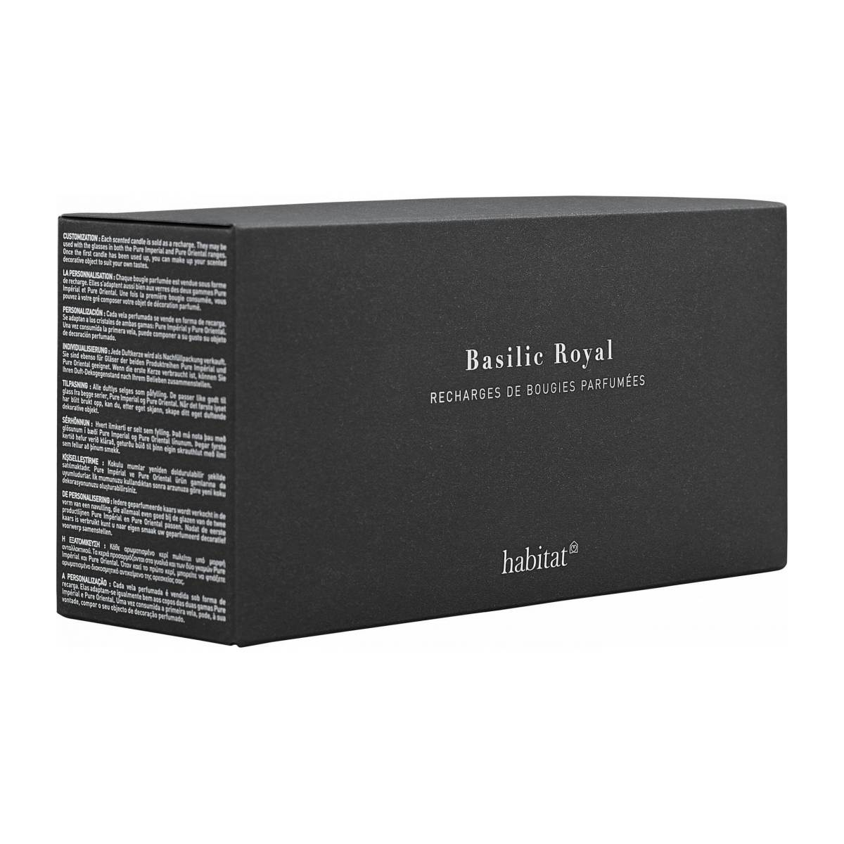 Refill for 3 small Basil scented candles, 3 x 150g n°4