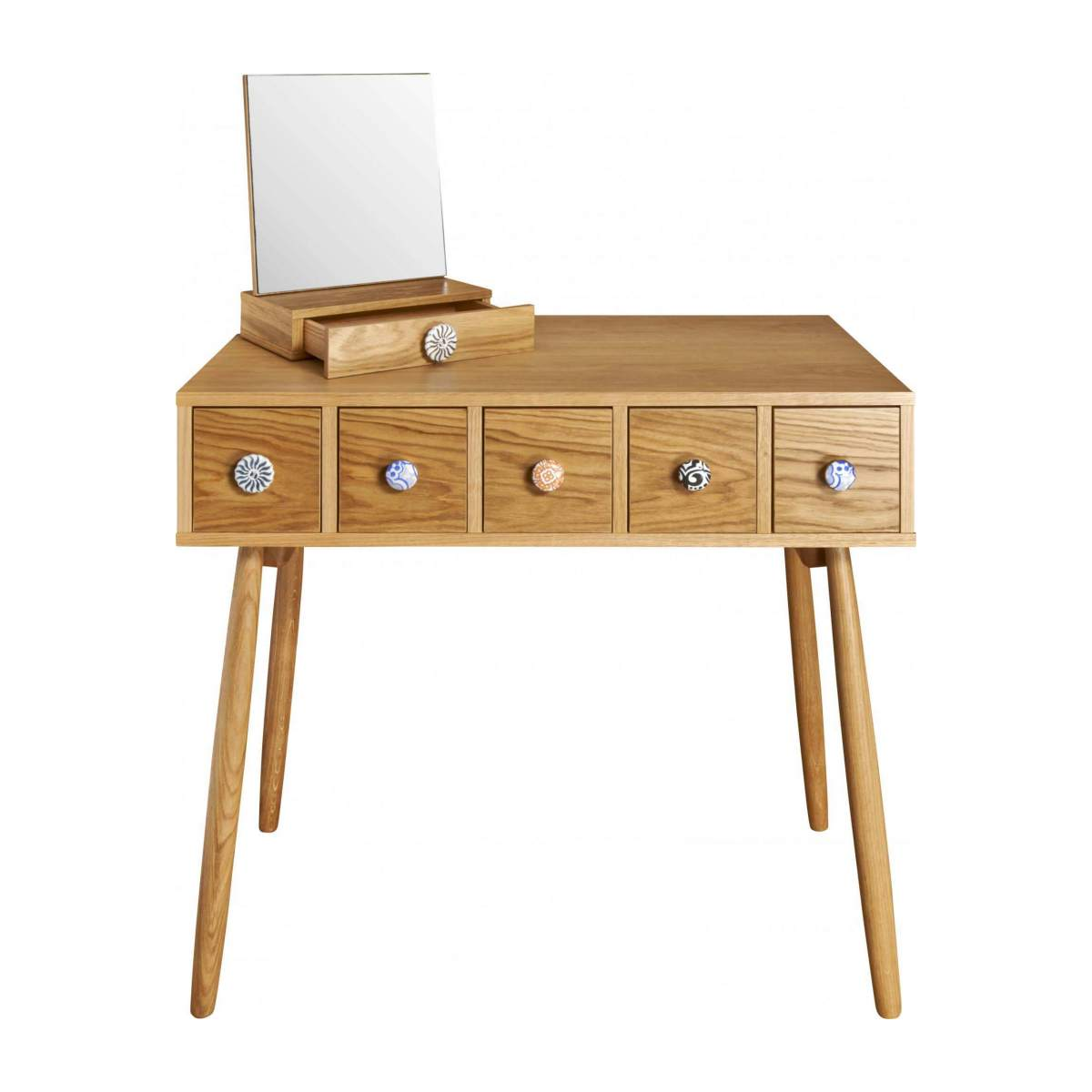Mirrored 5 drawer dressing table n°7