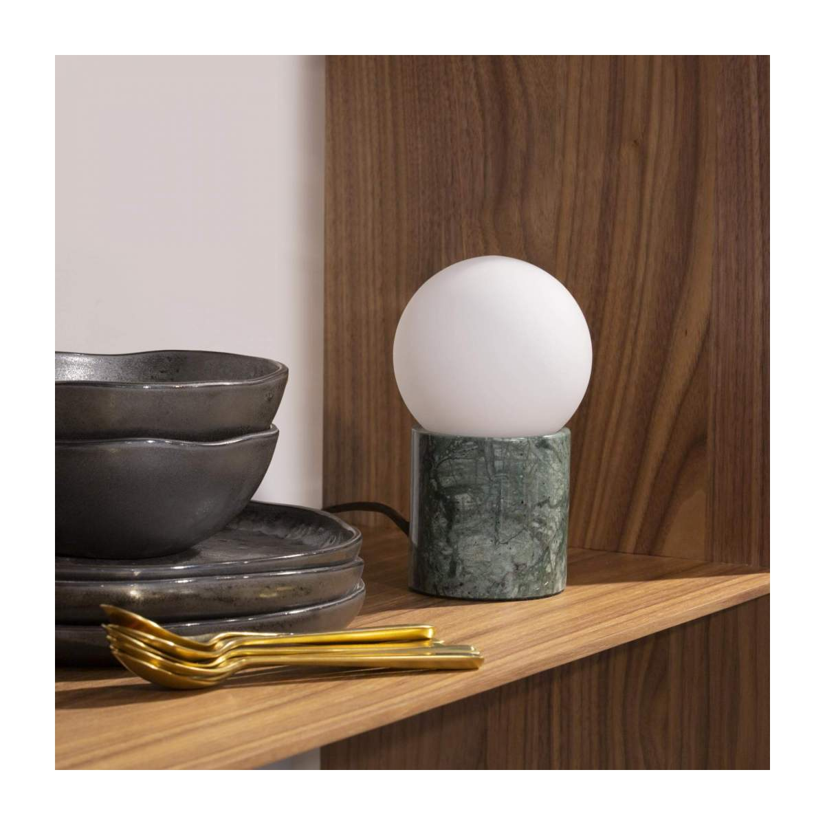 Lampe de table en marbre verre/Marble Table Lamp Green n°2