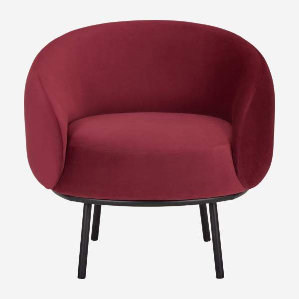 Fauteuil en velours - Bordeaux - Design by Adrien Carvès