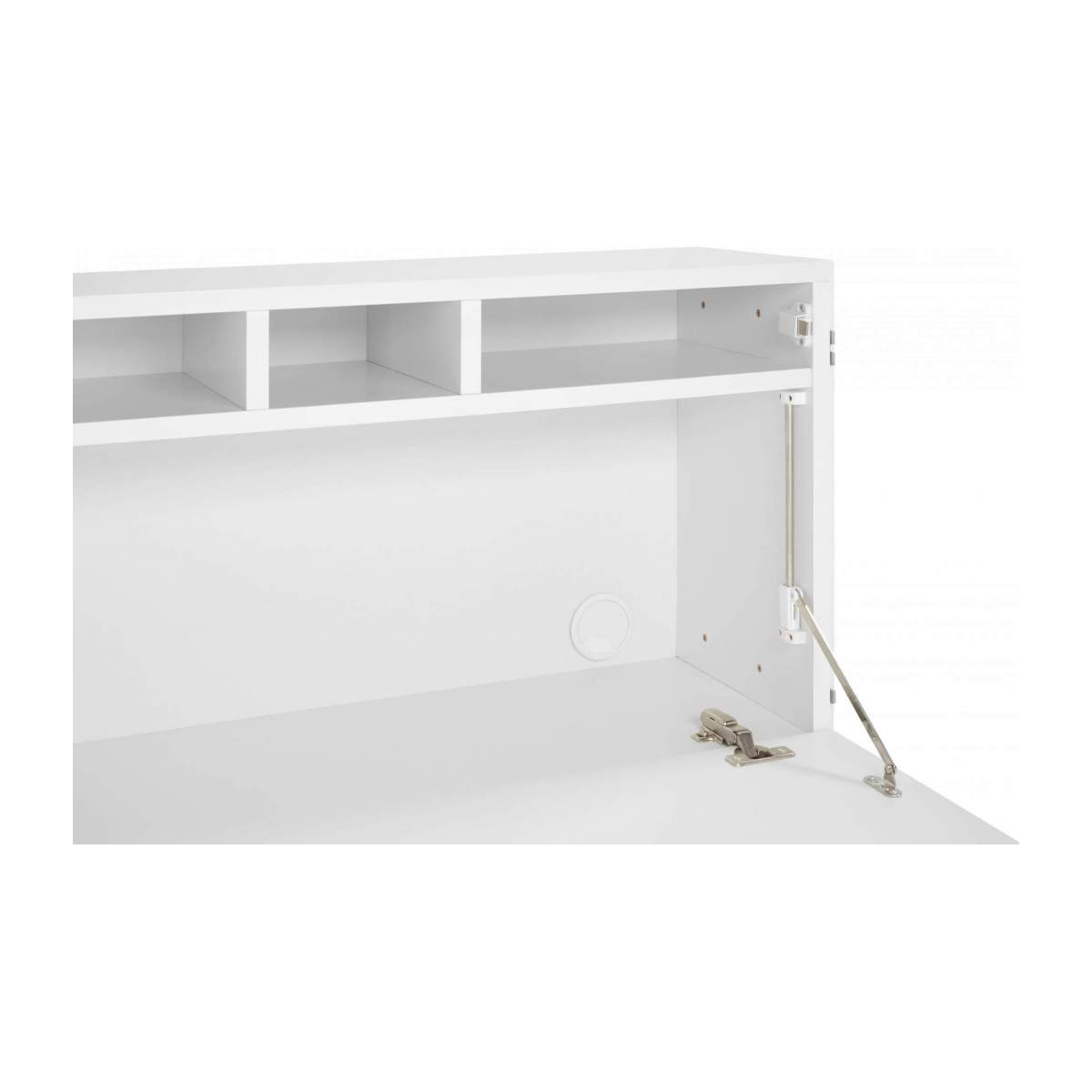 Lacquered white oak desk to hang n°7