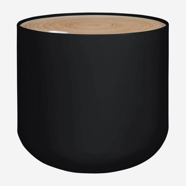 Black side table 48cm