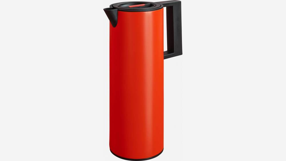 Thermos, 1L, aus Kunststoff, rot