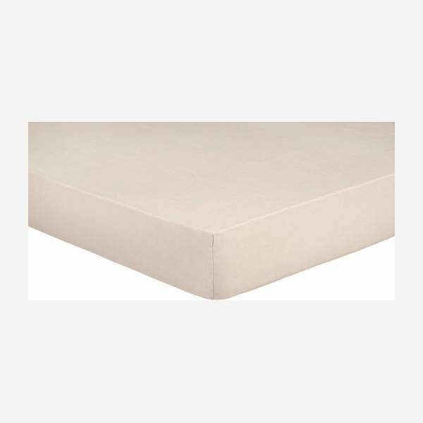 Fitted sheet made of flax 160x200cm, natural