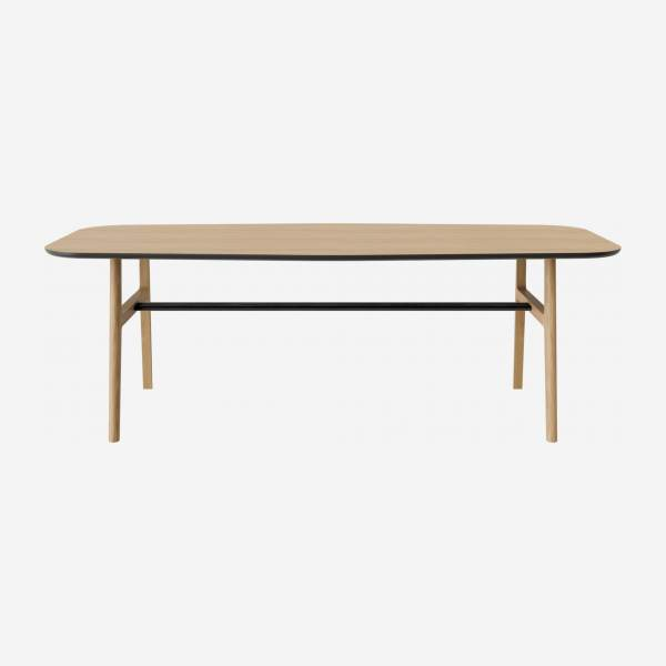 Table en chêne - Naturel et noir - Design by Adrien Carvès