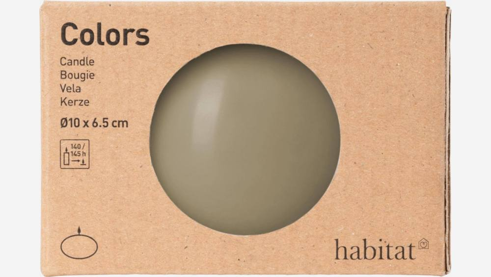 Bougie boule - 10 cm - Taupe