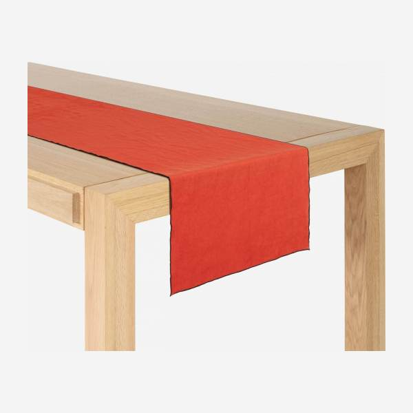 Travers de table en lin - 40 x 150 cm - Terracotta