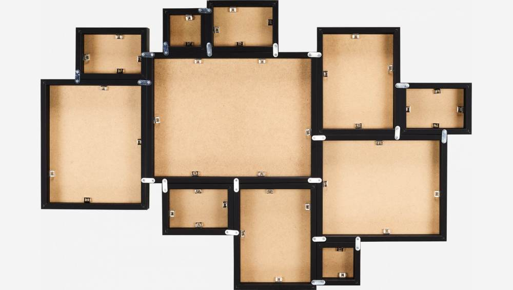 Wall-mounted multiple photo frame