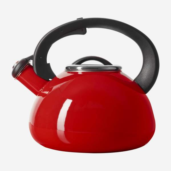 Stainless steel kettle - 20 cm - Red