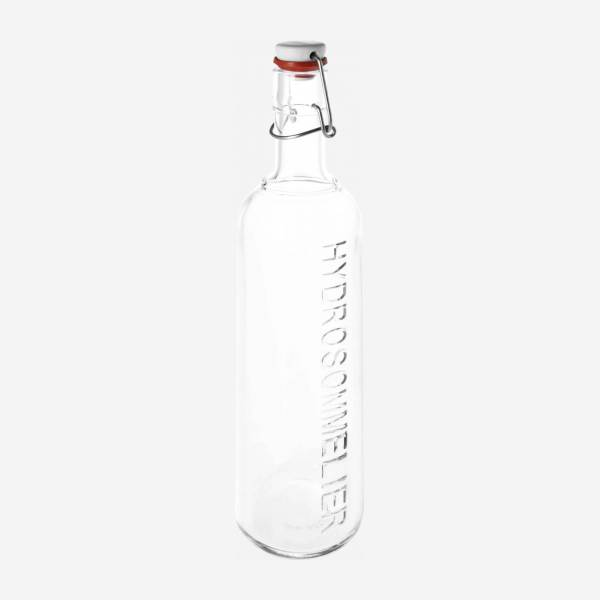 Glass bottle with clipping stopper - 8.5 cm