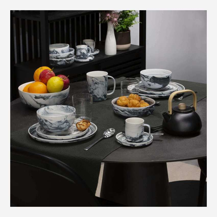 Porcelain coffee cup and saucer - Grey