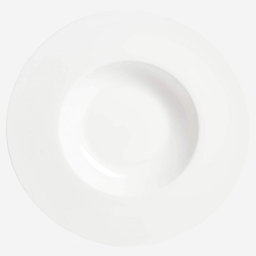 Plate for risotto in porcelain