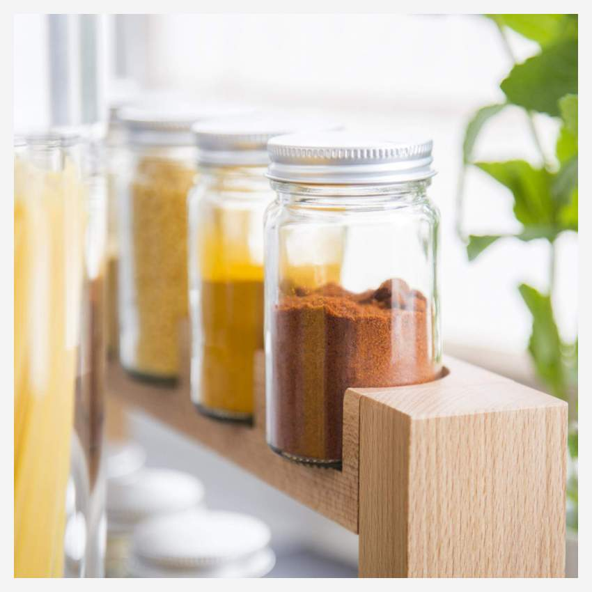 Wooden spice stand