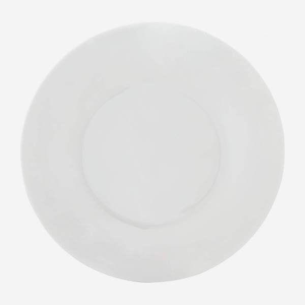 Porcelain dinner plate - 30 cm - White