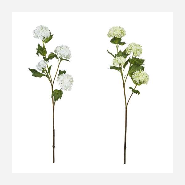 Set of 2 artificial white flowers 61cm