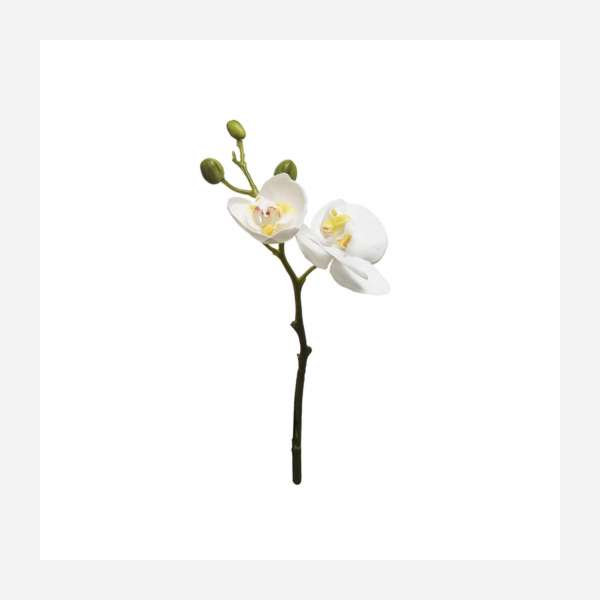 Artificial Phaalenopsis white orchid 32cm