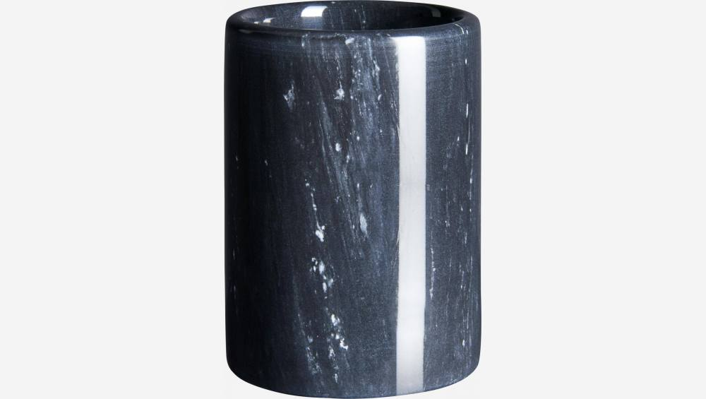 Marble toothbrush glass - Black