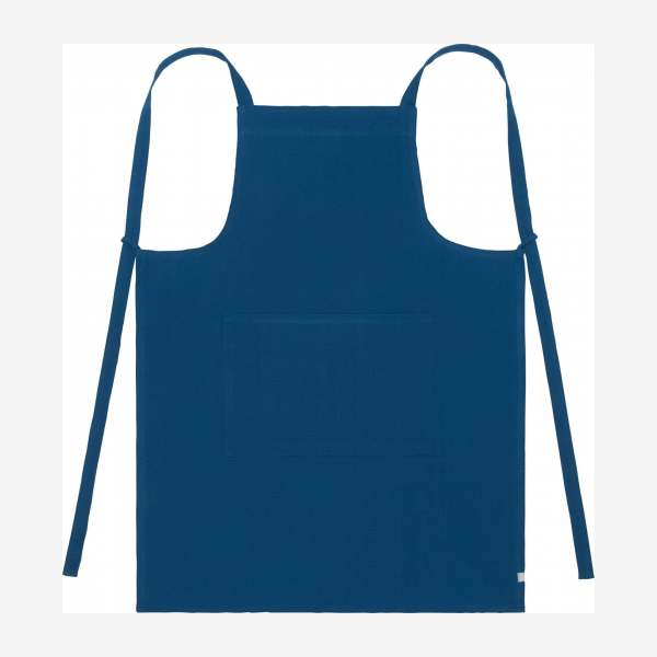 Cobalt blue cotton apron