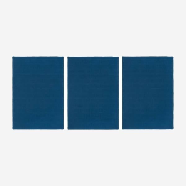 Set of 3 kitchen towels, blue cobalt