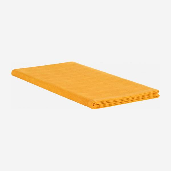 Table runner 200x40cm mustard yellow cotton