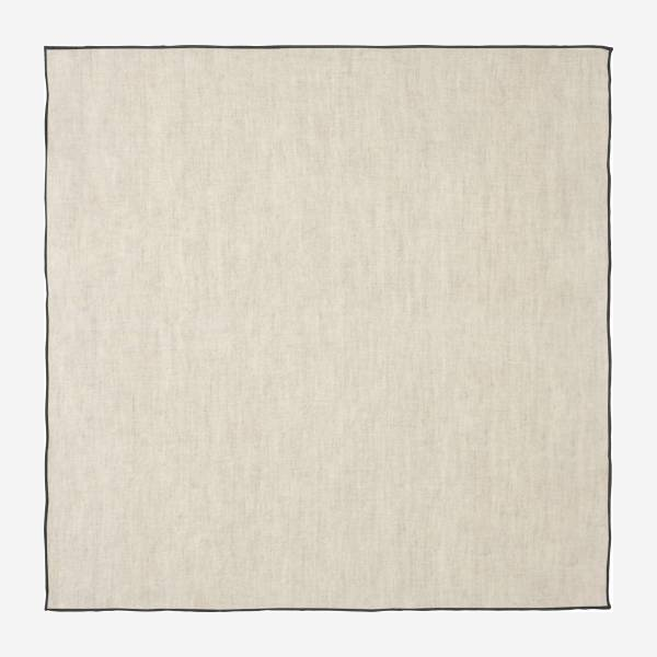 Lot de 2 serviettes de table en lin - 45 x 45 cm - Naturel