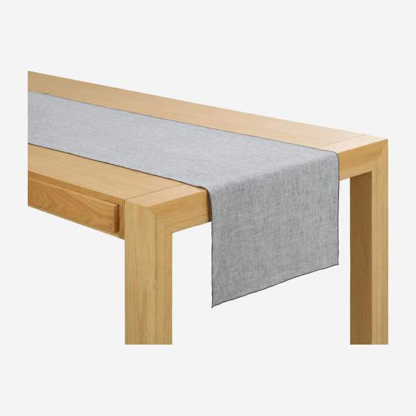 Chemin de table en lin - 45 x 200 cm - Gris