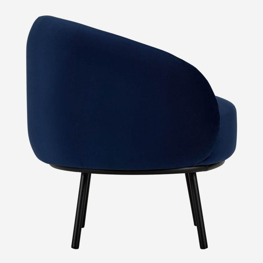 Sessel aus Samt - Blau - Design by Adrien Carvès