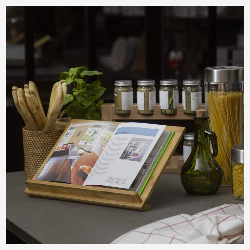 Bamboo cookery book stand