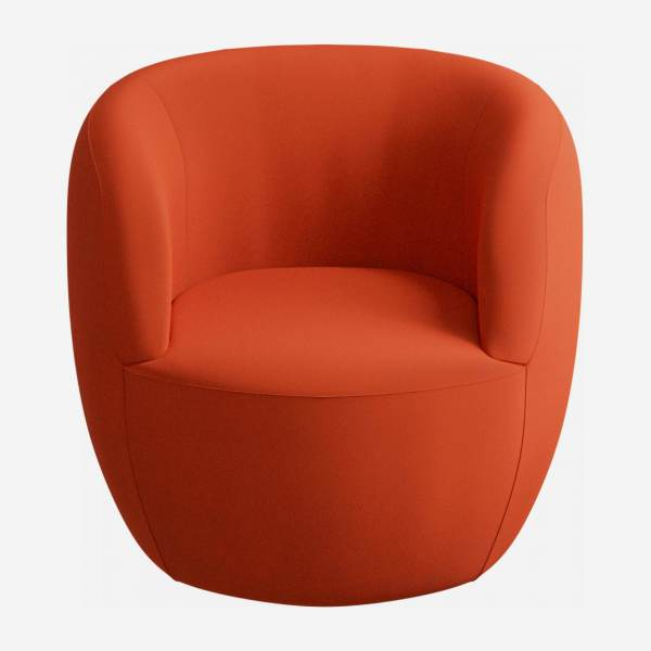 Fauteuil en velours - Orange