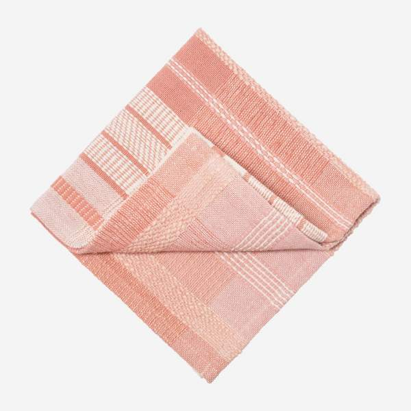 Lot de 4 serviettes en coton - 40 x 40 cm - Rose
