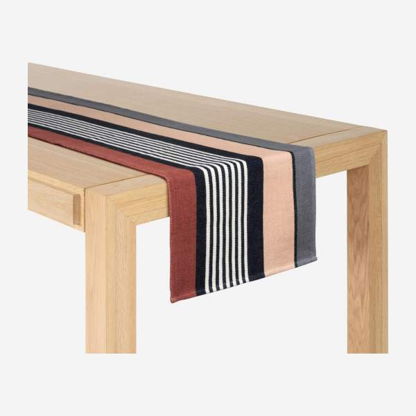 Travers de table en coton - 40 x 150 cm - Noir