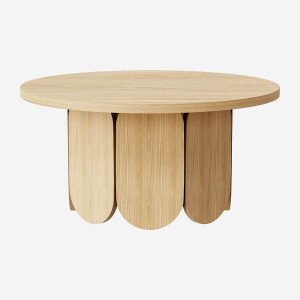 Table basse ronde en chêne - Naturel - Design by Pavel Vetrov